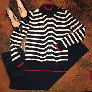 NEW W/TAG Loft Nautical Cable Sweater - S & M